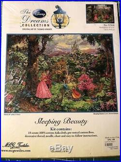 Thomas Kinkade Sleeping Beauty Disney Dreams Cross Stitch Kit NIP