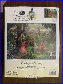 Thomas Kinkade Sleeping Beauty Disney Dreams Cross Stitch Kit NIP 52508