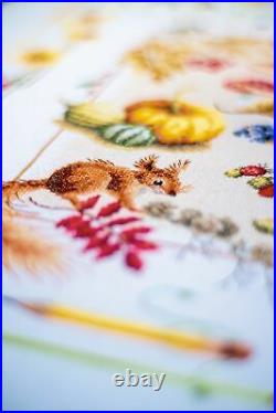 Vervaco-LanArte Counted Cross Stitch Kit 25x35-Four Seasons (27 Count)