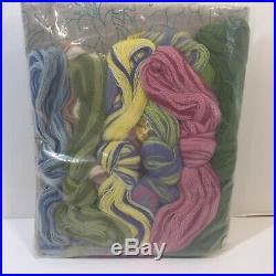 Victoria Floral Pillow Kit Elsa Williams Crewel Embroidery 18 KC533