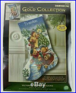 Victorian Bears Stocking Dimensions 8753 Gold Collection Counted Cross Stitch Q9