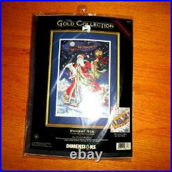 Vintage Dimensions Gold Collection Christmas Midnight Ride Cross Stitch