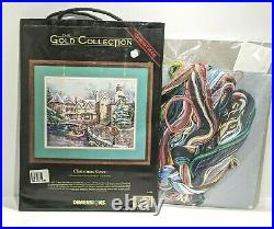 Vintage Dimensions Gold Cross Stitch Kit CHRISTMAS COVE 18 x 14 NEW 1996 Rare