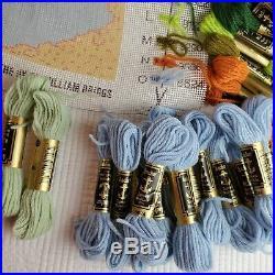 Vintage Ehrman Kaffe Fassett'00 Aubergine Blue Needlepoint Kit Started RETIRED