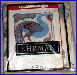 Vintage Ehrman Wool Tapestry Needlepoint Kit Bird Catching a Fish MZC