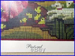 Vintage Elizabeth Bradley Needlepoint Complete Kit 1988 Pastoral Design for Coun