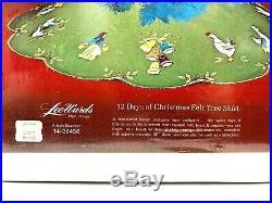 Vintage LeeWards 12 Days Of Christmas Felt Tree Skirt Kit Tablecloth New Sealed
