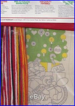 Vintage Sunset Christmas Fantasy Tree Toys Crewel Stitchery Stocking Kit 2025