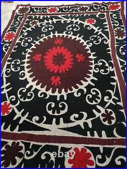Vintage Suzani wall tapestry Suzani wall hanging -Uzbekistan suzani 179x127 cm