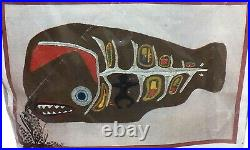 Vtg 60's Spinnerin Stitchery Jonah in the Whale Crewel Embroidery Kit 18 x 30 in