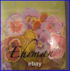 Vtg RARE Ehrman Needlepoint Tapestry Kit Pansy Bowl Kaffe Fassett Retired NEW
