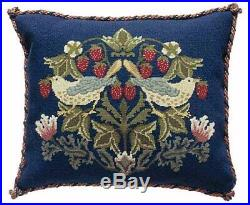 William Morris Strawberry Thief 2 Pillow Needlepoint Kit by Beth Russell