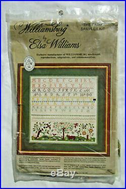 Williamsburg by Elsa Williams The Farm Sampler Embroidery Kit